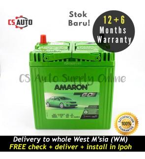 Amaron Go NS40ZL Car Battery MF NS40 for Perodua Myvi, Viva, Alza and Honda City