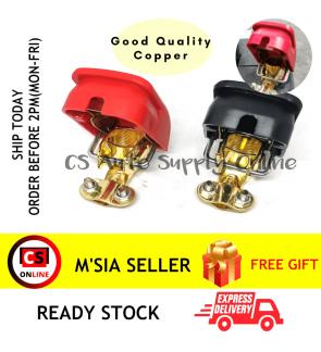 Car Battery Clamp Quick Release Disconnect 1set (Red & Black) positive negative 2pcs Good Quality Copper