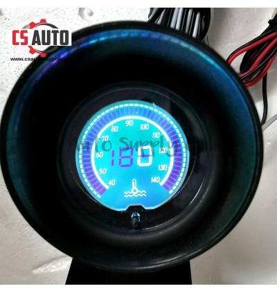 "Car Digital Water Temperature Meter 2"" Led Blue Display Round High Accuracy12V 24V 10mm sensor 40-140℃"
