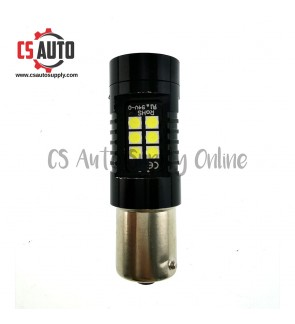 Led 1141 12V 24V 1156 21smd Bulb White for Lorry Truck Signal Tail Light Satu titik Super Bright