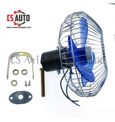 "24V DC Room Fan 8"" inch Car Lorry Inside Cooling Cover Fan Electric Single Speed"