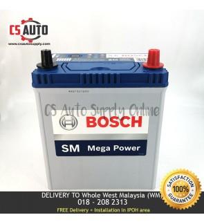 BOSCH NS40ZL Car Battery MF NS40 38B20L for Perodua Myvi, Viva, Alza and Honda City, Toyota Vios