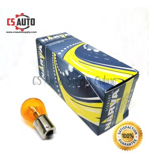 NARVA 12V 1141 PY21W Signal Bulb Yellow Amber BA15s 100% Original Car Single contact