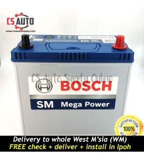 BOSCH NS60L Car Battery MF 46B24L small terminal for Toyota Vios, Honda C/H-RV Civic Stream, Nissan Almera and Grand Livina