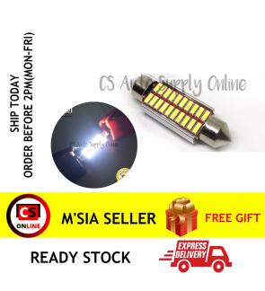 1pc x Led 12V 39mm 20smd Long light Bulb Bullet for car interior room lamp light Canbus