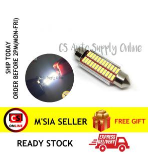1pc x Led 12V 41mm 24smd Long light Bulb Bullet for car interior room lamp light Canbus