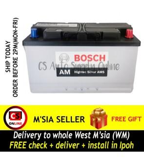 Bosch Din100L Hightec Silver AMS Din100 AM Car Battery for Mercedez Benz, BMW