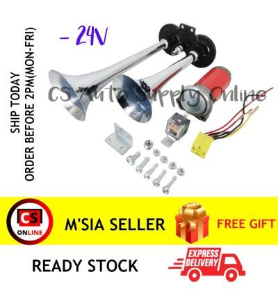 150db 12V 24V Dual Trumpet Air Horn Compressor Kit For Train Car Truck Lorry Boat Loud