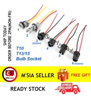 T10 T13 T15 Bulb Holder Socket with Adaptor wire harness 4090 W5W W13W W15W Rubber PVC Plastic (1pc)