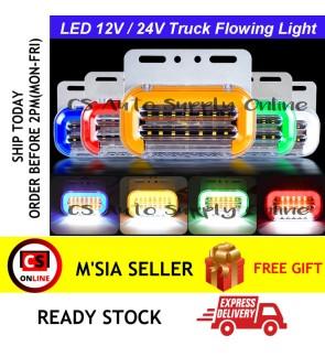 LED 12V/24V Side Marker Flowing Running Light Truck Lamp Trailer Lorry (1pc)