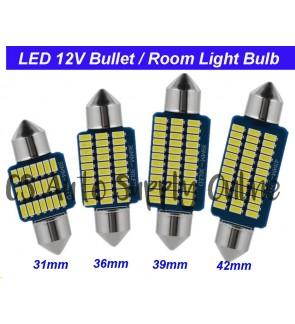 Led 12V 31mm 36mm 39mm 42mm Long light Bulb Bullet for Car Interior Room Lamp (1pc)
