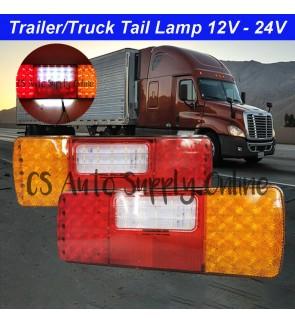 LED Trailer Truck Lorry 12V 24V Tail Lamp 61SMD Rear Light TATA
