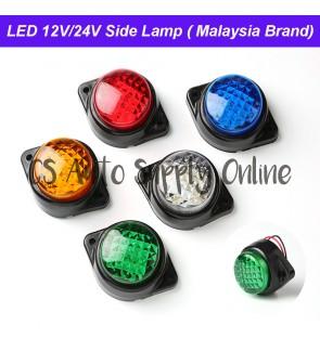 24v LED Trailer Side Lamp Outline Marker Light Side Small Lamp Lampu Kecil Tepi for Lorry Trucks 1 pc/biji