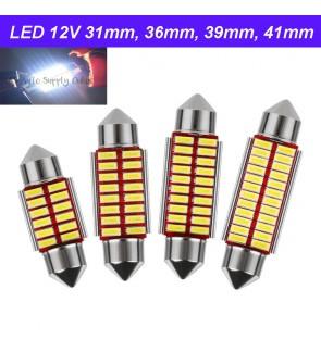 Led 12V 31mm 36mm 39mm 41mm Long Light Bulb Bullet for car interior Room Lamp Canbus