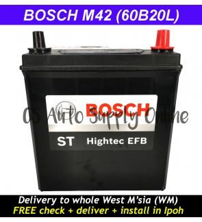 Bosch M42 60B20L EFB Battery Eco Idle Start Stop Technology Perodua Bezza Myvi Advance 100% Original Ipoh