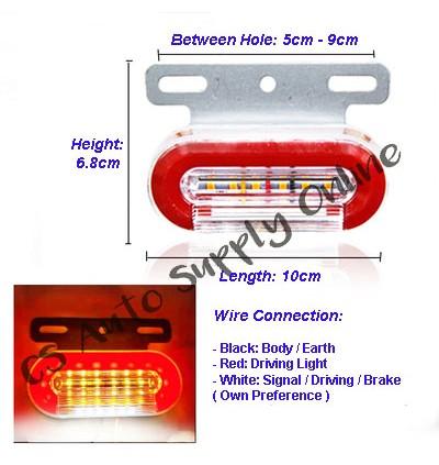 LED 12V 24V Flowing Side Marker Signal Light Indicator Lamp Truck Lorry Bus Running Flash