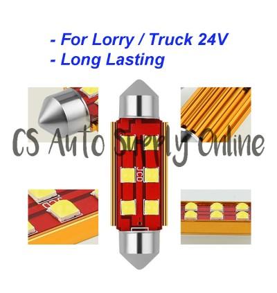 Led 24V smd Room Lamp Festoon Long light Bulb Bullet for Lorry Truck interior cabin light